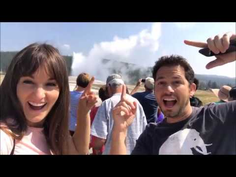 Old Faithful and Midway Geyser Basin | Yellowstone Vlog #3
