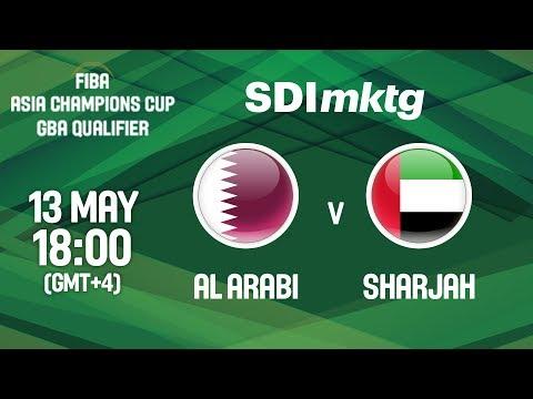 Al Arabi (QAT) v Sharjah (UAE) - Full Game - FIBA Asia Champions Cup 2018 GBA Qualifier (Arabic)