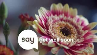 Gute Besserung! SayFlowers liefert frische Blumen in jedes Schweizer Spital.