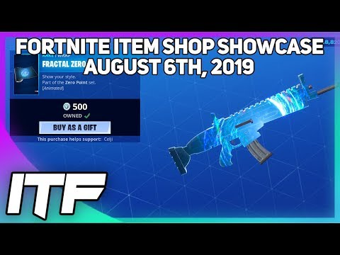 Fortnite Item Shop *NEW* FRACTAL ZERO WRAP And DEADFIRE IS BACK!  [August 6th, 2019]