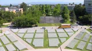CSUN Oviatt Library - Commencement setup time lapse