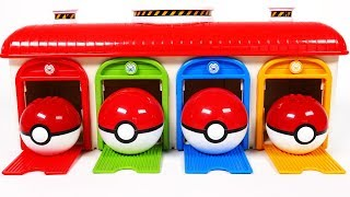 Pokemon Parking Garage Playset for Kids Bus