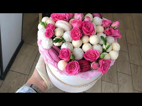Сладкий букет СВОИМИ РУКАМИ. Букет в шляпной коробке просто  DIY Sweet Bouquet Just
