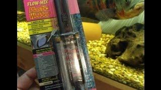Repairing A Fish Aquariums Plastic Trim With Epoxy