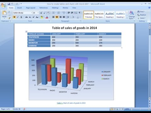 How to make a chart in microsoft word 2020