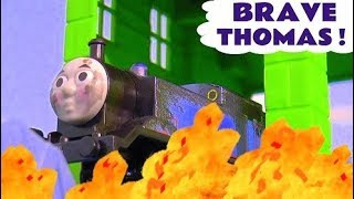 Thomas The Tank Engine Brave Toy Train Stories With A Fiery Rescue | Trains For Kids Tt4u