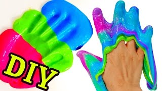 How To Make SLIME Without Borax DIY Only 3 Ingredients