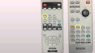 Two most used Epson Projector remotes