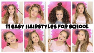 11 EASY Hairstyles for School! 5 Minute Heatless Styles!