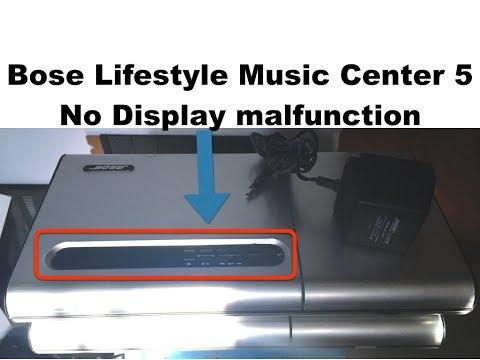 Bose lyfestyle model 5 music center repair no display - english