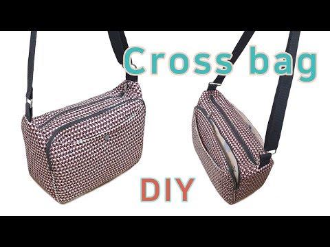 DIY cross bag/Cross bag making tutorial/Useful cross bag/실용적인 크로스백 만들기