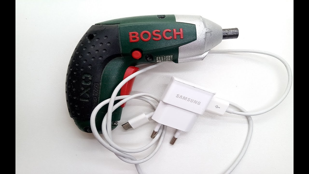 bosch ixo how to charging with samsung usb charger - youtube