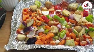 Roasted Vegetables Salad | Healthy And Quick Baked Vegetables Salad | Weight loss Salad