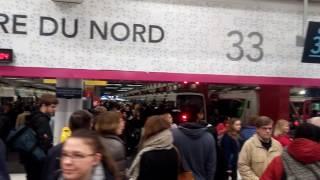 Trafic interrompu sur le RER B, c'est la pagaille Gare du Nord.