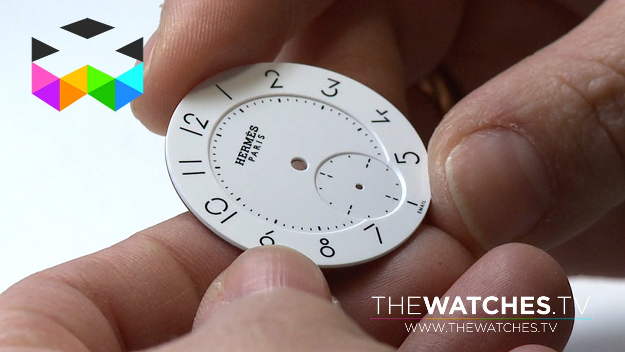 Traditional Enamel Dial Manufacturing - YouTube