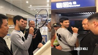 Novak Djokovic arrives in Shanghai - Shanghai Rolex Masters 2019 (HD)