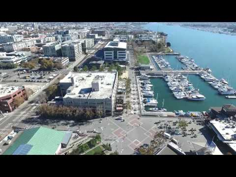 Downtown Oakland California & Jack London Square - DJI Phantom 3 Professional