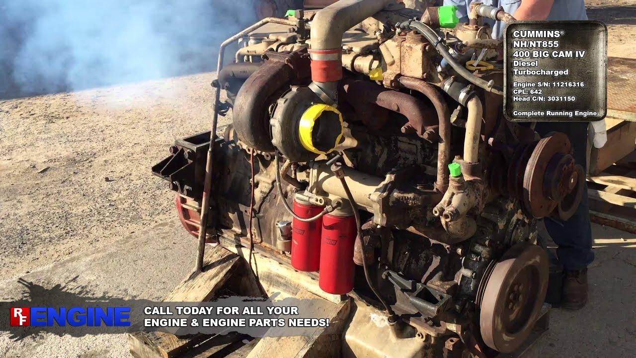 7510439GN | Cummins® NH/NT855 400 Big Cam IV Running Engine
