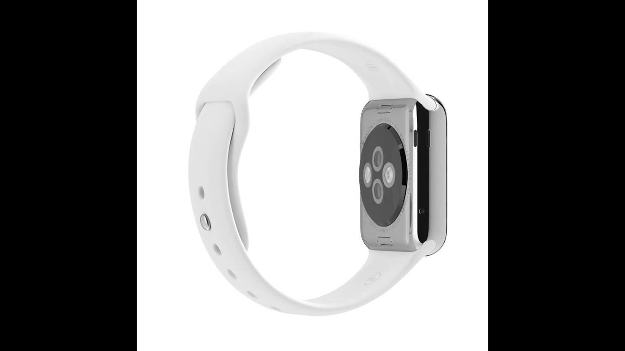 official photos 8b55a 2ad25 Apple Watch 38mm Stainless Steel Case with White Sport Band