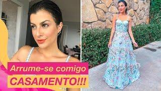VIREI UMA PRINCESA EM 2 horas!!!! Make, cabelo e look para Casamento ❤👰| Nah Cardoso