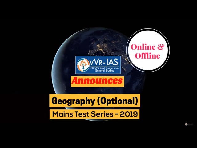 Geography Optional mains test series online/offline