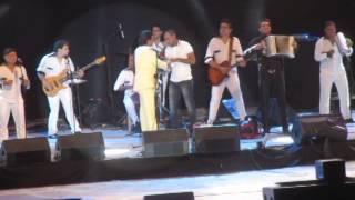 Diomedes Diaz - grabación de la telenovela en el Parque de la Leyenda Vallenata