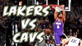 NBA 2K16 gameplay Lakers vs Cavaliers
