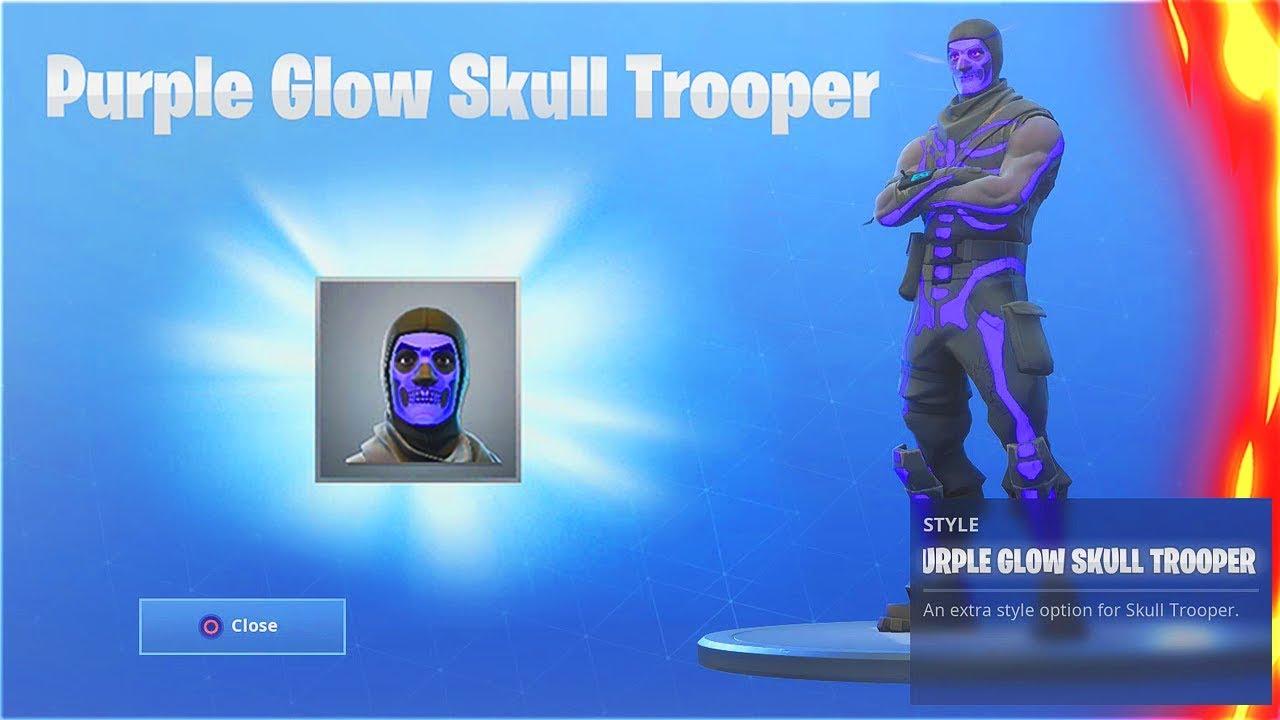 How To Unlock Secret Purple Glow Skull Trooper New Skull Trooper