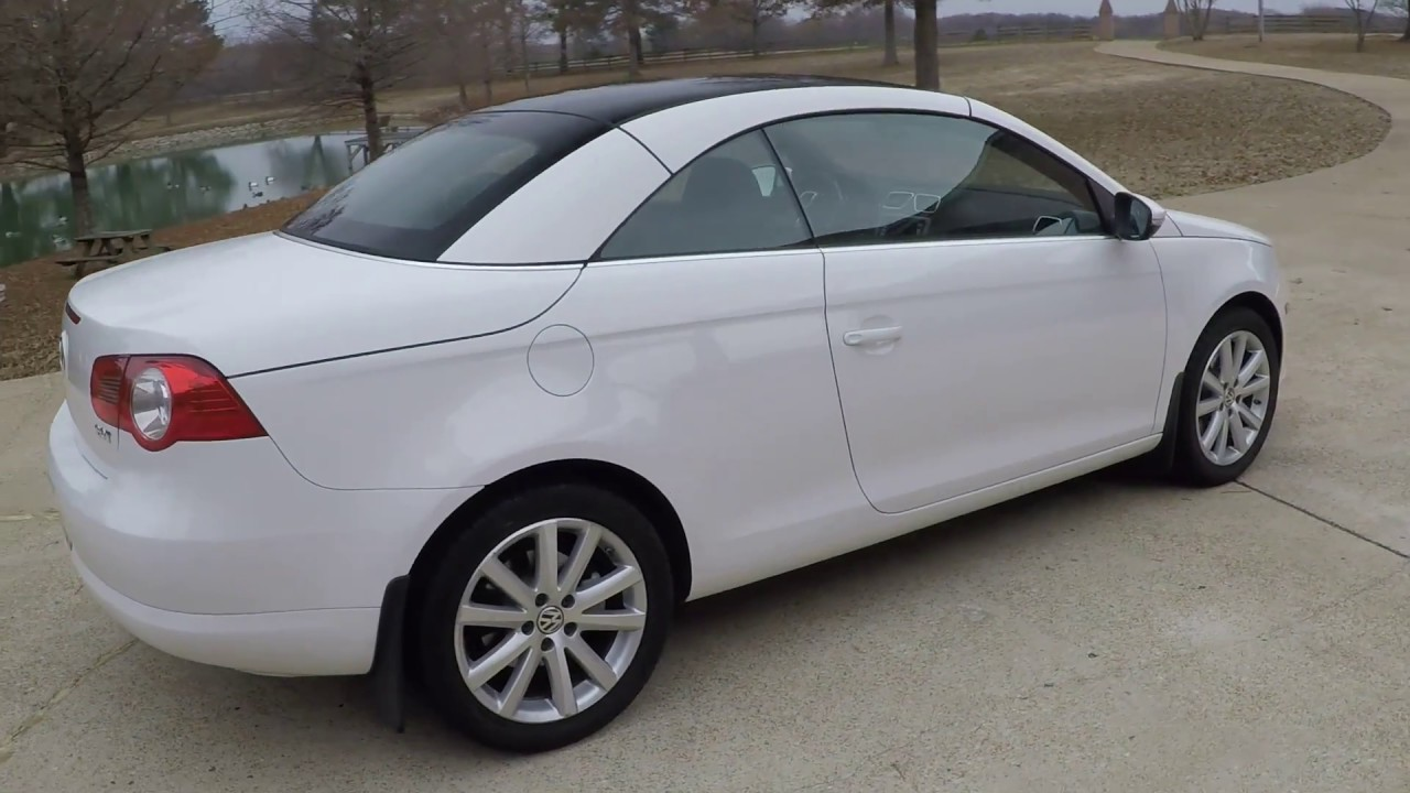 hd video 2009 volkswagen eos 2 0t hard top convertible for sale info www sunsetmotors com youtube. Black Bedroom Furniture Sets. Home Design Ideas