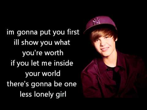 One Less Lonely Girl Acoustic Justin Bieber