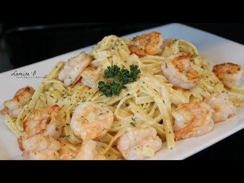 How To Make Creamy Shrimp Alfredo Pasta |  Easy Shrimp Fettuccine Alfredo | Episode 142