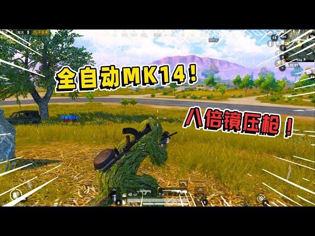 鸡大宝:挑战全自动MK14八倍镜压枪,实力超强,被光子针对!
