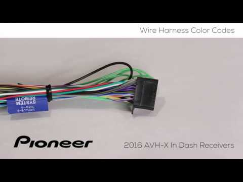 how to - understanding wire harness color codes for pioneer avh-x models  2016 - youtube