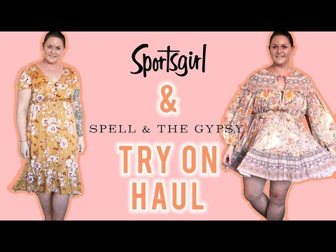 Sportsgirl And Spell The Gypsy Collective Try On Haul Plus Size Boho Fashion March 2019 Youtube
