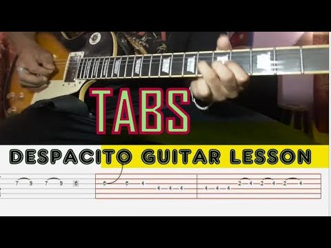 how to play despacito on guitar tabs