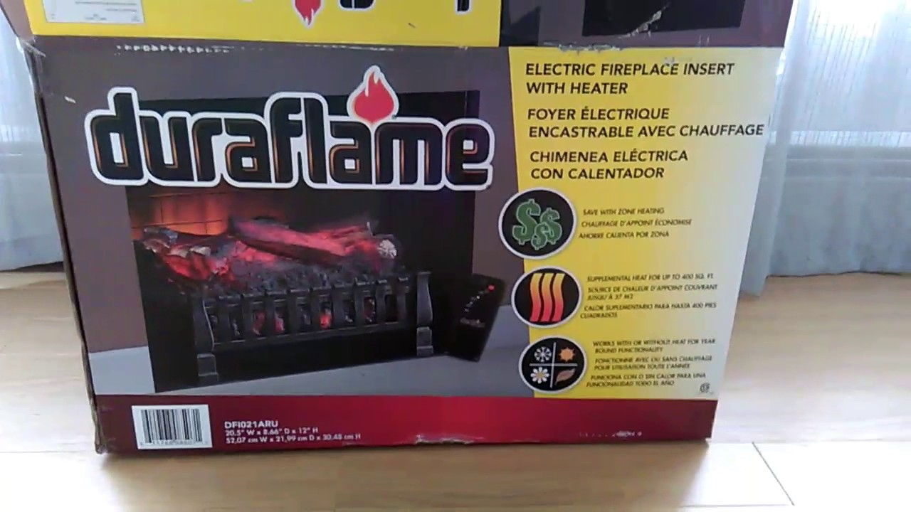 duraflame electric fireplace insert 2017 review youtube
