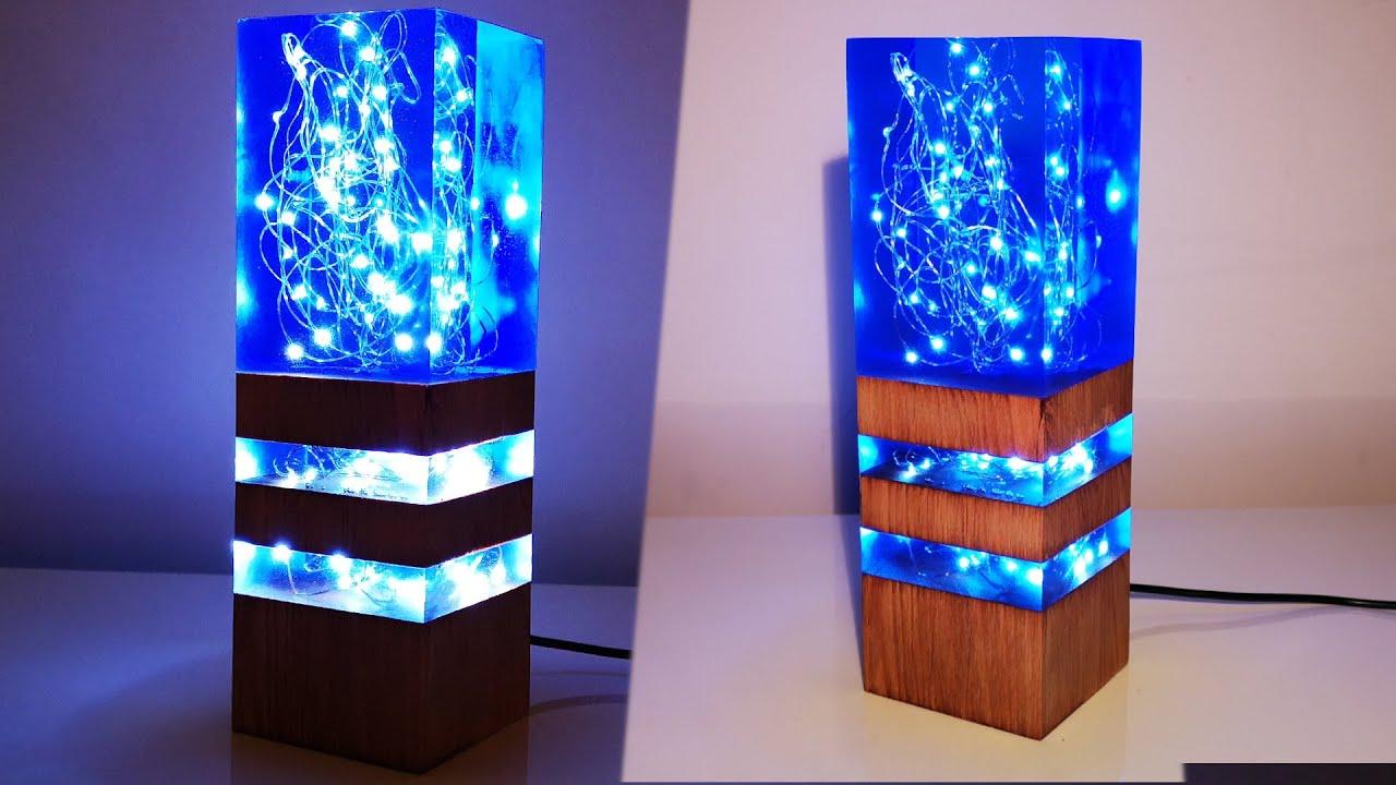 Blue Epoxy Resin Lamp