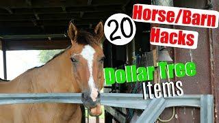 Horse/Barn Hacks | 20 Dollar Tree Horse/Barn Items | Saving Money as an Equestrian