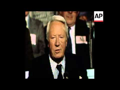 SYND 6 10 76 EDWARD HEATH SPEAKS AT THE CONSERVATIVE PARTY CONFERENCE IN BRIGHTON