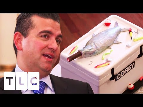 Cigar-Smoking Fish Cake For Marissa's Wedding! | Cake Boss
