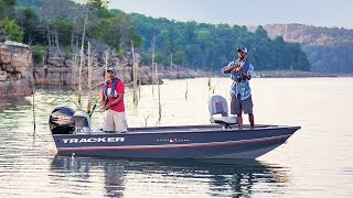 TRACKER Boats: 2017 Guide V-16 Laker DLX T Deep V Fishing Boat