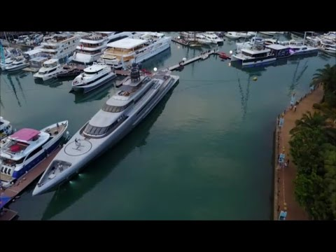 The Singapore Yacht Show 2017 at Sentosa Cove - DJI Mavic Pro [4K]