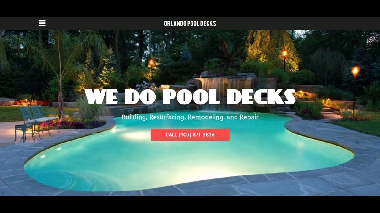 Pool Deck Resurfacing Orlando Florida