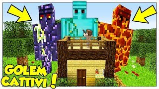 I GOLEM GIGANTI ATTACCANO LA NOSTRA CASA! - Minecraft ITA