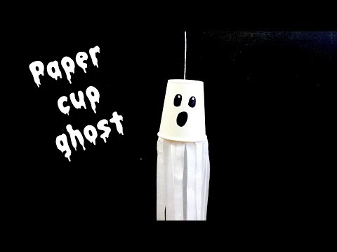 Paper Cup Ghost - Halloween Crafts for Kids
