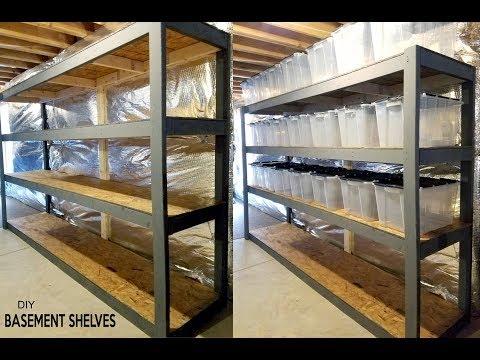 Diy Basement Shelves Free Standing