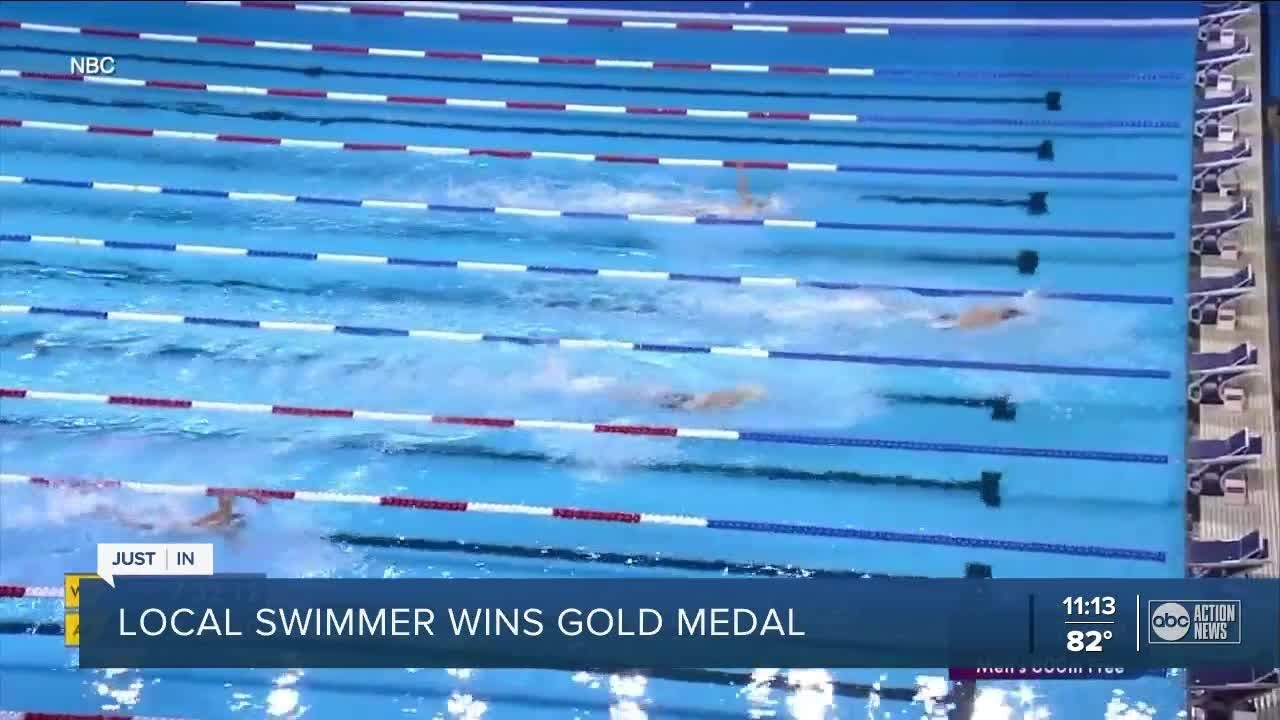 Clearwater Olympian Bobby Finke wins gold in 800M freestyle