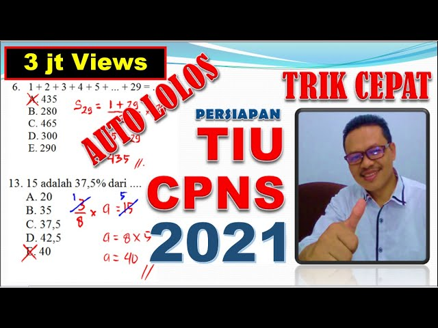 Soal Tiu Cpns 2021 Yang Sering Muncul - Jawaban Pelajaran