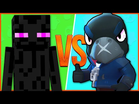 MINECRAFT VS BRAWL STARS ⭐ Эндермен Enderman Майнкрафт ПРОТИВ Ворон Crow Бравл Старс