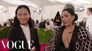 Lady Gaga and Alexander Wang at the Met Gala 2015 | China: Through the Looking Glass